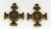 Saint Benedict Cross Copper Finish 1.8cm Italy