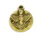 Tiny 1.3cm Antique Gold Finish Holy Spirit Bracelet Charm Round