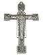 "Christ the King Cross Black Silver Finish 2 3/8"" x 1 5/8"" Metal As Low As $0.85 Each wholesale"