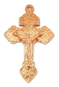 Metal crosses Pardon Crucifix Cross BRONZE, GOLD, SILVER, ANTIQUE GOLD, ROSE, ANTIQUE SILVER, STERLING SILVER