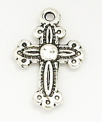 Tiny Cross 1.7x1.3cm Antique Silver Crosses Bulk