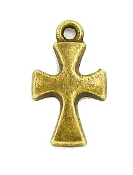 Tiny Cross 1.4x1.0cm Bronze Finish Crosses Bulk