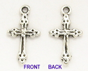 Tiny Cross 1.8x1.1cm Antique Silver Crosses bulk