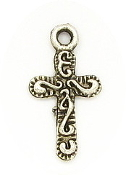 Tiny Cross 1.0x0.9cm Antique Silver Crosses bulk