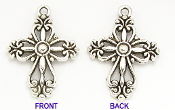 Small Cross 2.5x2.0cm Antique Silver Crosses bulk