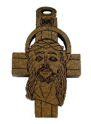 "Franciscan Tau Cross Wood Brown Stain 2"" x 1 1/4"""