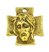Antique Gold Finish Ecce Homo Holy Face Thorns medal 7/8""