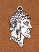 "Antique Silver Finish Jesus Ecce Homo Thorns Holy medal 7/8"" Holy Jesus medal"