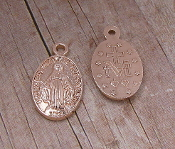 Tiny Miraculous Medal DELUXE LIGHT PINK Oval 1.4cm