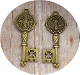 "Key of life---Key of Heaven Saint Benedict 2"" key shaped medal BRONZE FINISH"