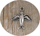 3D Holy Spirit Bracelet Charm 1.7 x 1.7cm Antique Silver Finish-Inexpensive Bracelet Charm Silver Catholic medals Bracelet medals Parts Bracelet parts-Measurement does not include eyelet