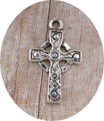 "Our Deluxe Rosary Crucifixes are known for the most beautiful intricate designs Rosary parts Made in Italy Largest selection of inexpensive Rosary supplies on the web Celtic Cross with Antique Silver Finish 7/8"" x 5/8"""