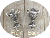 Chalice Antique Silver Communion Rosary CenterPieces 3/4""