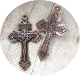 "98¢ COPPER Finish Pardon Crucifix 2"" INDULGENCE CRUCIFIX Cross"