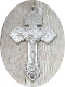 "98¢ SILVER Shiny Finish Pardon Crucifix 2"" INDULGENCE CROSS Catholic Cross"