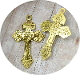 "GOLD ANTIQUE Finish Pardon Crucifix 2"" INDULGENCE CRUCIFIX"