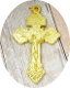 "Bright GOLD Finish Pardon Crucifix 2"" INDULGENCE CRUCIFIX"