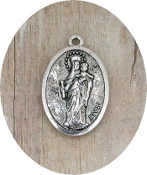 "Mary Queen of Heaven Charm Antique silver-plated 1"" Don Bosco"