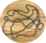"Metallic Silver 23"" Ball Chain 2mm Brass Medals-Crucifixes"