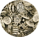 "50/Pkg Tiny Oval Immaculate Heart of Mary medal Italy 1/2"" Italy"