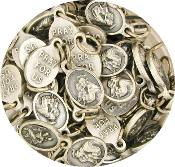 "50pcs/Pkg Tiny Oval Saint Anthony medal charm 1/2"" Italy"