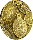 Tiny Miraculous Medal DELUXE ANTIQUE GOLD Oval 1.4cm