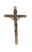 Copper Finish Traditional style Crucifix 4.0 x 2.2cm