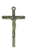 Bronze Finish Traditional style Crucifix 4.0 x 2.2cm