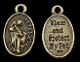 RUSTIC BRONZE St Francis Medal Bless and Protect my Pet 1""