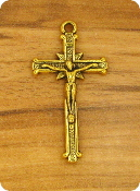 "Our Deluxe Rosary Crucifixes are known for the most beautiful intricate designs Rosary parts Made in Italy Largest selection of Antique Gold Crucifix Cross 1 1/4 x 3/4"" Rosary Parts Italy"
