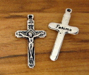 Small Lady of Fatima Crucifix 2.3x1.5cm Antique Silver Finish Wholesale bulk prices