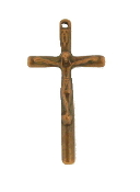 "Our Deluxe Rosary Crucifixes are known for the most beautiful intricate designs Rosary parts Made in Italy Largest selection of inexpensive Rosary supplies on the web Catholic Crucifix Copper Finish Cross 1 5/16 x 3/4"" Italy"