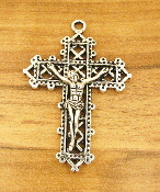 Our Deluxe Rosary Crucifixes are known for the most beautiful intricate designs Rosary parts. Largest selection of inexpensive Rosary supplies on the web Intricate Detailed Antique Silver Finish Crucifix 3.5x2.7cm
