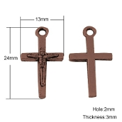 Our Deluxe Rosary Crucifixes are known for the most beautiful intricate designs Rosary parts Made in Italy Tiny Copper Finish Crucifix Cross Metal Small Copper Finish Crucifix Cross 2.0cm x 1.3cm
