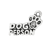 Dog Person Charm Antique Silver finish W-1.8cm