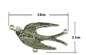 Holy Spirit Antique Silver Finish Rosary Centerpieces 3.8x2.1cm Rosary Centerpieces 1.6cm Rosary Parts Wholesale bulk prices