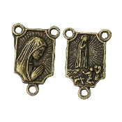 Bronze Finish Our Lady of Fatima Rosary Centers 1.4x1.0cm Measurement does NOT include eyelet - rosary parts and supplies""