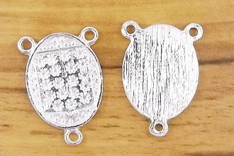 Shiny Silver Finish Rosary Center blanks Antique Silver Finish Now Make you own centerpieces - Wholesale Rosary Parts