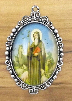 "St Benedict Pendant Color Picture 2"" picture Large Deluxe Picture charms - Catholic Medals in Full Color Picture"