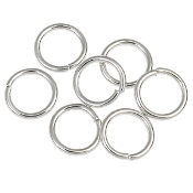 Jump Ring SILVER OXIDIZED 7mm x 1.0mm Bulk Packed $2.50/100pcs