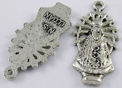 Our Lady of Luján medal Antique Silver finish 1""