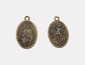"100/Pc BRONZE St Michael/Guardian Angel Medal oval 1"" Saint Michael Medals wholesale"