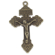 "10+ 98¢ea Pardon Crucifix BRONZE Finish 2"" INDULGENCE CRUCIFIX Catholic Holy cross"