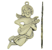 "Angel with Bronze Finish 2 1/4"" Character Shaped"