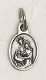 "Holy Family Medal Tiny Oval Silver Oxidized 1.1cm Italy 50/Pkg -Made in Italy-Catholic Tiny Oxidized medals - Great for watch, Bracelets, favors, Charm, necklace-Back of medal says ""Pray For Us""-Includes jump ring Inexpensive Bracelet rosary parts-"