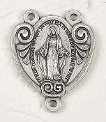 Deluxe Miraculous Medal Centerpiece Rosary Parts 3.0x2.5cm