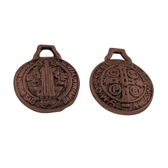 Tiny Saint Benedict Jubilee copper medal 1.2cm ROUND