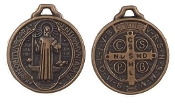 "10/Pc Saint Benedict medal Copper Finish ROUND 7/8"" Jubilee Jubilee Copper tone"