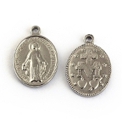 100% Stainless Steel Blessed Virgin Mary Miraculous medal 1.6cm- Necklace pendant Wholesale