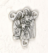Deluxe Holy Family Centerpiece Rosary Parts Large selection of inexpensive rosary supplies made in Italy